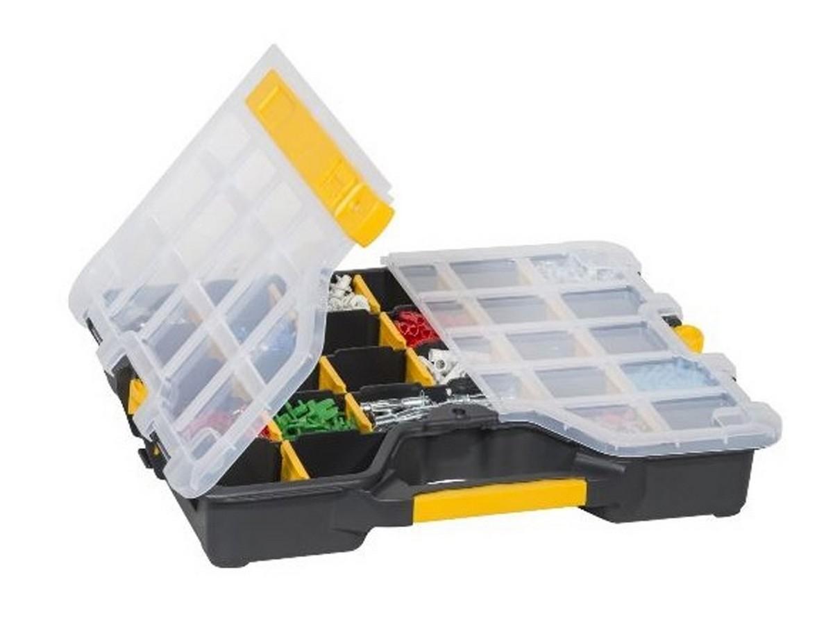 EuroPlus Basic Sortibox leer mit 6-26 Fächern 365x295x62 Verschlussschieber schwarz