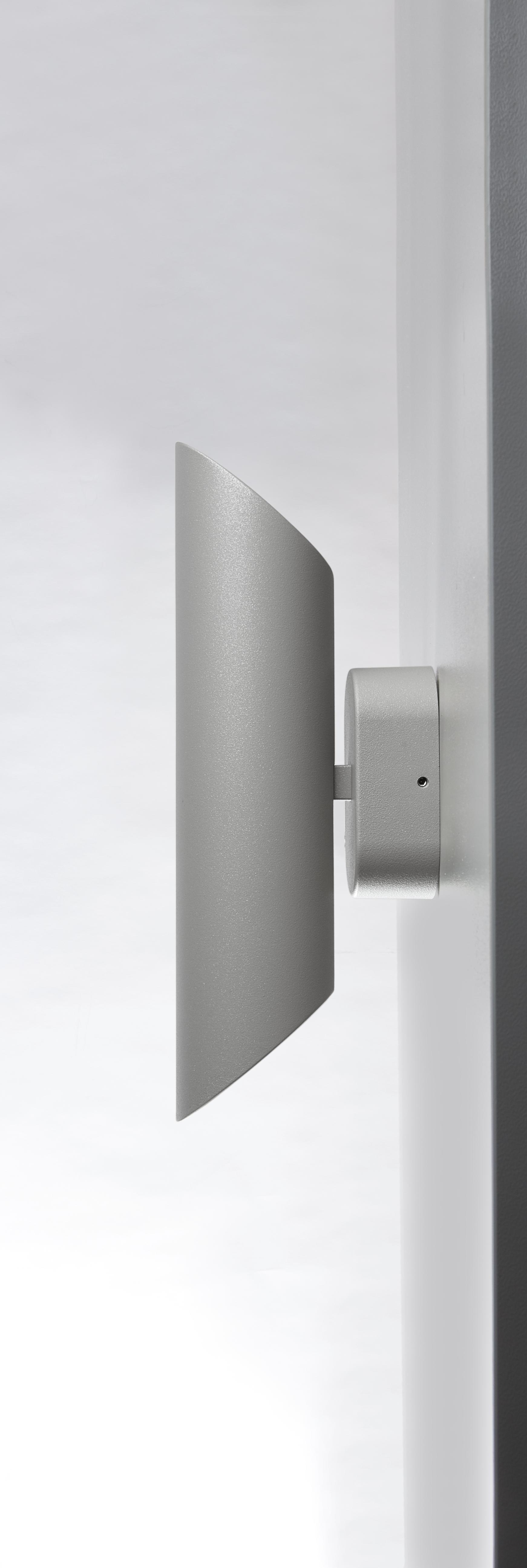 Wandleuchte CAPRI silber GU10, LED max. 2x7 W