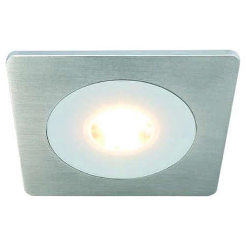 Hera - LED EINBAUSTRAHLER AQ78 7,5 Watt EDELSTAHLOPTIK Warmweiß 3000 Kelvin